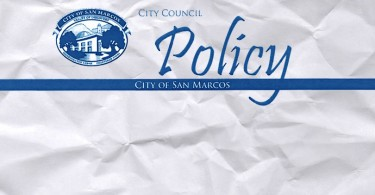City Council Policy